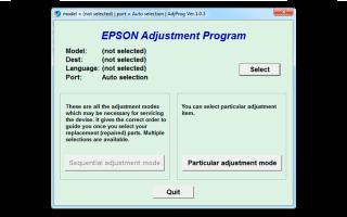 Сброс памперса Epson L210, L110, L800, L120, L132, L222, L800, L805 бесплатно