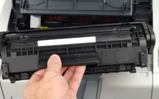 Замена картриджа в принтере HP, Canon, Epson, Samsung и других