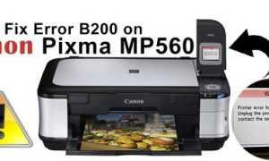 Ошибка B200 в принтерах Canon: причины, как устранить